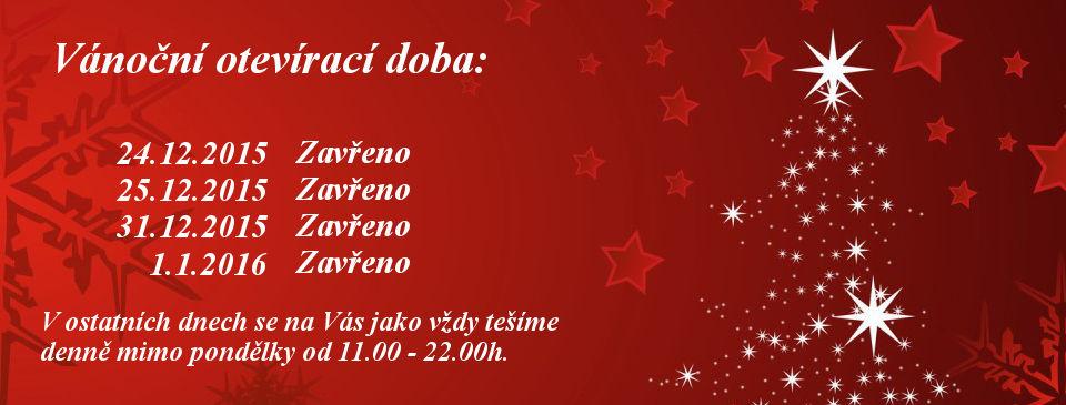 Vánoční otevírací doba Panský Mlýn Opava